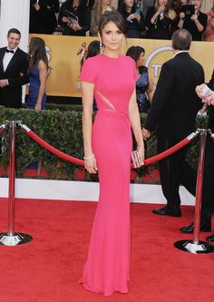 Nina Dobrev wears ELIE SAAB Ready-to-Wear Spring 2013 to the 19th Annual Screen Actors Guild Awards.