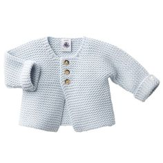 Petit Bateau Baby Cardigan Baby Blue – The Girls @ Los AltosAbout the brand: Founded in France in Petit Bateau hails from a rich history that for many conjures sweet memories of childhood happiness, passed forward from generation to generation. Baby Boy Cardigan, Knitted Baby Cardigan, Toddler Sweater, Knit Baby Sweaters, Blue Cardigan, Baby Cardigan Knitting Pattern Free, Baby Sweater Patterns, Baby Knitting Patterns, Pull Bebe