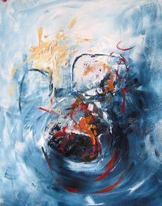 Angst, schilderij van Gerda Kwakkel .. Kunst / Abstract / Modern / Schilderij