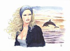 Manara-BB : Delfino. 25 aquarelles inédites sur Brigitte Bardot. juin 2016