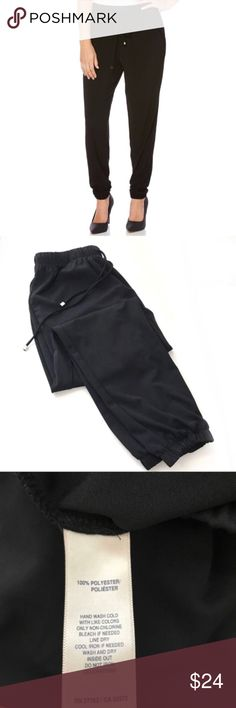 """Rafaella luxe black drawstring joggers XS Waist 28"""" Hips 42"""" Rise 10.5"""" Inseam 26""""   Not what you're looking for? Feel free to browse my closet for other occasions: Winter, spring, summer, fall, birthday, New Year's Eve, Valentine's Day date, Graduation, Prom, Purim, St. Patrick's Day, Easter, Earth Day, Cinco de Mayo, Mother's Day, EDC, Coachella, Memorial Day, Comic Con, 4th of July, Labor Day, Thanksgiving, Halloween, Christmas Rafaella Pants Track Pants & Joggers"""