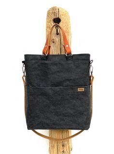 Černá VEGAN II kabelka, taška vhodná i na notebook / od Lucky b.a.g.s.   Fler.cz Unisex, Bags, Handbags, Bag, Totes, Hand Bags