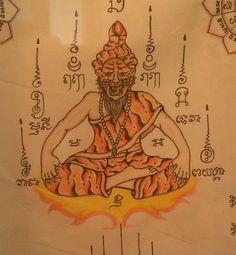sak yant design Filipino Tribal Tattoos, Hawaiian Tribal Tattoos, Thai Tattoo, Maori Tattoos, Tatoos, Japanese Tiger Tattoo, Thailand Tattoo, Buddhist Symbols, Cross Tattoo For Men
