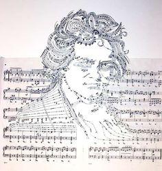 Mesmerizing Musical Montages -  The Erika Iris 'Reconfigured Sheet Music' Series is Noteworthy!