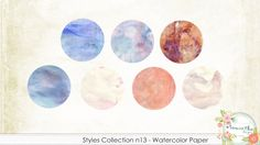 Styles Collection n13 - Watercolor Paper
