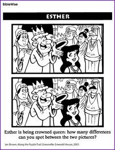 Find the Difference (Esther Crowned Queen)- Kids Korner - BibleWise