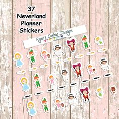 37 Neverland Planner Stickers  Erin Condren  Inkwell by BellaPlans