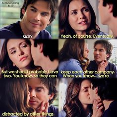 """#TVD 6x19 """"Because"""" - """"You are not my daughter."""" - Damon and Elena"""