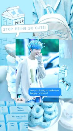Pastel Wallpaper, Tumblr Wallpaper, Blue Wallpapers, Blue Backgrounds, Iphone Wallpaper, Nct 127, Park Jisung Nct, Blue Aesthetic, Decorating Blogs