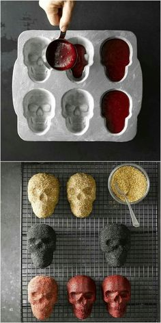 Skeleton cakes! Use any cake batter in the skeleton tray that you can get on Amazon!