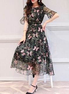 b3315a944966 20 Best Butterfly print dress images | Woman clothing, Cute dresses ...