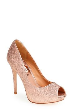 Free shipping and returns on Badgley Mischka  Lust II  Pump (Women) at  Nordstrom.com. Scintillating metallic leather illuminates a peep-toe pump  lifted by a ... 4ae95c7d9