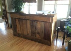 Saunzee Custom Barn Wood Office Desk Dividers Office Partition Furniture‎ Table Dividers Partitions Space Division Office Barn Wood Furnitur...