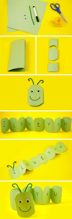 Your kids will love making this easy and fun caterpillar full of love.