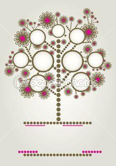Projekt drzewo genealogiczne wektor z ramkami — Ilustracja stockowa #6044772