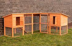 Poulailler clapier avec enclos