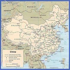 awesome China map lakes