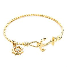 gold anchor bracelet  jewelry trend 2015