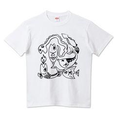 (釣りざんまい)珍海魚   デザインTシャツ通販 T-SHIRTS TRINITY(Tシャツトリニティ)