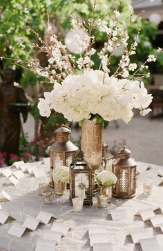 Photographer: Briana Marie Photography; Wedding reception centerpiece idea;