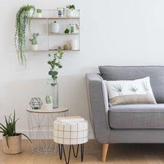 Beistelltisch aus weißem Metall | Maisons du Monde