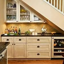 stair design with mini bar with cabinets : Under Stair Design With Mini Bar. bar under stairs ideas,built bar under stairs,house stairs design,mini bar under stair,stair design ideas Stairs In Kitchen, New Homes, House, Staircase Design, Home, Kitchen Design, Staircase Storage, Kitchen Remodel, Basement Design