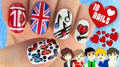 1D Nails - One Direction Nail Art (+плейлист) Music used in This Video and more tracks you can Find here: http://stockmusicclouds.com/ or follow twitter https://twitter.com/antarcticbreeze