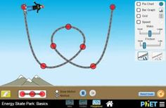 Energy Skate Park Basics Image - University of Colorado Interactive Simulations for Science and Math
