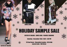 Holiday sample sale Palmer//Harding -- London -- 13/12