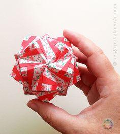 Origami Kimono Sonobe Kusudama Tutorial | by Judith Magen