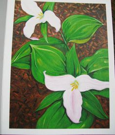 Trillium Flower  Note Card by wildrootsdesigns on Etsy, $3.00
