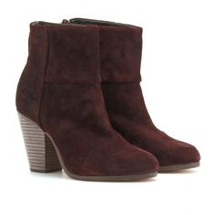 CLASSIC NEWBURY SUEDE ANKLE BOOTS seen @ www.mytheresa.com