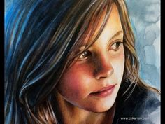 Watercolor and Colored Pencils Portrait SPEED PAINTING by Ch. Karron - YouTube