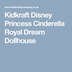 Kidkraft Disney Princess Cinderella Royal Dream Dollhouse