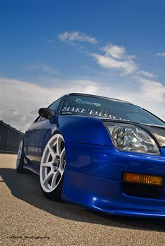 Blue Honda Prelude #car #blue