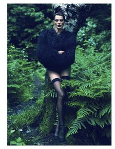 le noir partie 4: daria werbowy by mert and marcus for vogue paris