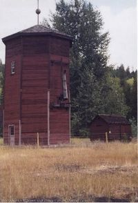 Brookmere a small community located approximately west of Merritt. The last standing water tower on the KVR is located here Abandoned Train, Bus Station, Water Tower, Diners, Water Tank, Kettle, Touring, Planes, Trains