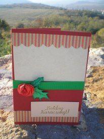 Karácsonyi képeslap - rózsás  Ha szeretnéd megvásárolni, kattints a képre.