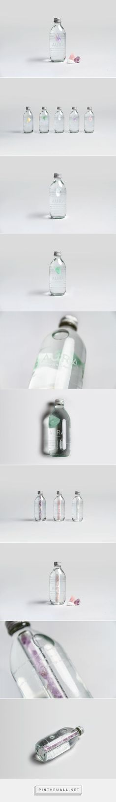 AURA – Water Packaging on Behance #packaging #package #design #water #bottle #gemstone #esoterism #jewel #pure #branding #energy #life