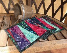 Batiks Narrow Dresser Scarf Purple Blue Aqua And By Knjstudio
