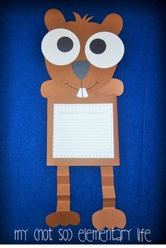 Groundhogs Day Craft and unit all about Groundhogs and Punxsutawney Phil