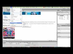 Creating navigation in Dreamweaver CC Dreamweaver Cc, Web Design, Graphic Design, Create, Youtube, Youtubers, Visual Communication, Youtube Movies, Site Design