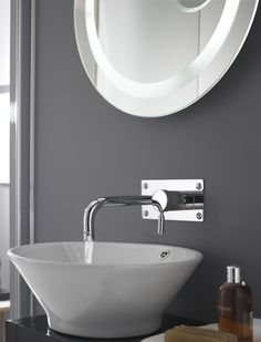 Nothing says Spa Luxury like a counter top basin paired with a wall-mounted tap. This Hudson Reed Vessel is paired with a Hudson Reed Wall-Mounted Basin Mixer.    http://www.victorianplumbing.co.uk/Counter-Top-Basins.aspx