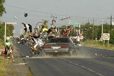 photo conducteur ivre endormi cycliste groupe mexique humour insolite