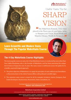 Predict Future: Amazing Vastu Tip to Sharpen your Vision. How to focus? – Simple MahaVastu remedy, Owl, when placed in the West zone of your home, helps to sharpen your vision, read minds and manifest money, wealth & prosperity.