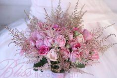 Flower bouquet pink vintage