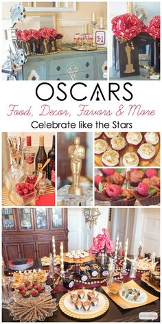Atta Girl Says | Oscar Party Ideas: Celebrate Like the Stars | http://www.attagirlsays.com