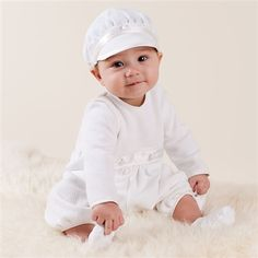 Love this little christening jumper and hat; I wonder if I can make my own???