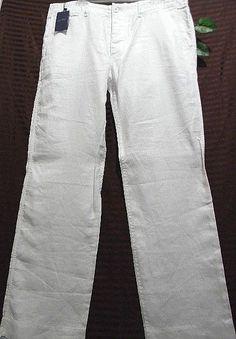 Armani Jeans AUTHENTIC White Mens Casual Pants Size US 34 XL EU 52 #ArmaniJeans #CasualPants