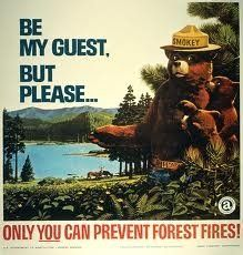 Smokey Bear also known as Smokey the bear is a mascot of the 'United States Forest Service' created to educate the people about the dangers of forest fire. All Nature, Back To Nature, Vintage Advertisements, Vintage Ads, Vintage Stuff, Vintage Images, Us Department Of Agriculture, Us Forest Service, Smokey The Bears